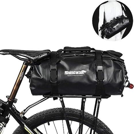 Selighting Bolsa Alforja Trasera para Bicicleta 25L, Grande Bolsa Bicicleta Multifunción Carretera MTB Bicicleta de Montaña (Verde): Amazon.es: Deportes y aire libre