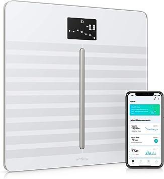 Withings Body Cardio Báscula inteligente con conexión Wi-Fi, composición corporal, frecuencia cardíaca, IMC, masa muscular, grasa y porcentaje de agua corporal, aplicación móvil por Bluetooth o Wi-Fi: Amazon.es: Salud y cuidado personal