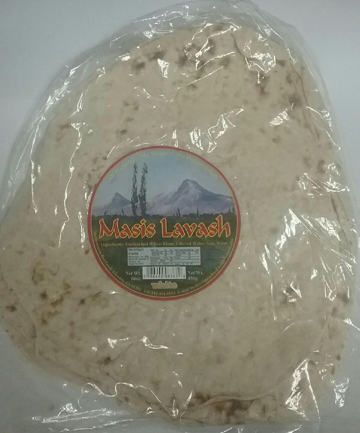 Masis All Natural White Lavash Pack of 3