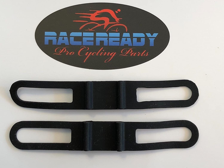 2 Race Ready。。。ラバーハンドルバー懐中電灯マウントストラップ。。ホルダー。。。ブラック B077SR2QBW