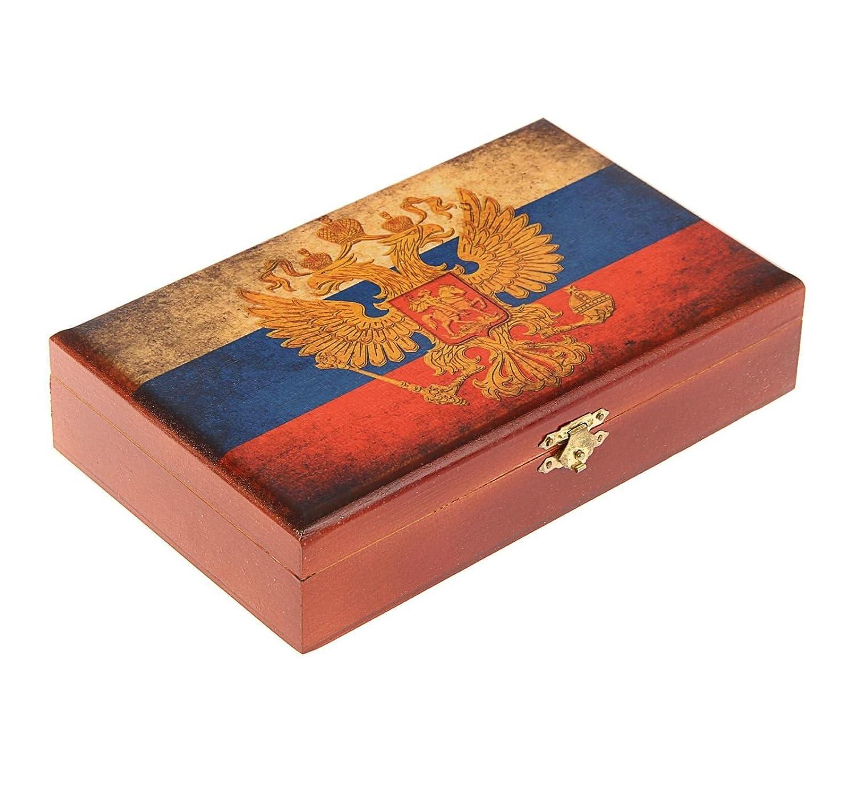 大好き B074W241ZHRussian木製ボックス入りドミノゲームセット B074W241ZH, 吉良町:1bf39aac --- yelica.com
