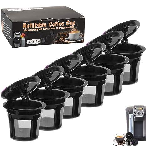 Amazon.com: LivingAid - Tazas reutilizables de K Cup ...