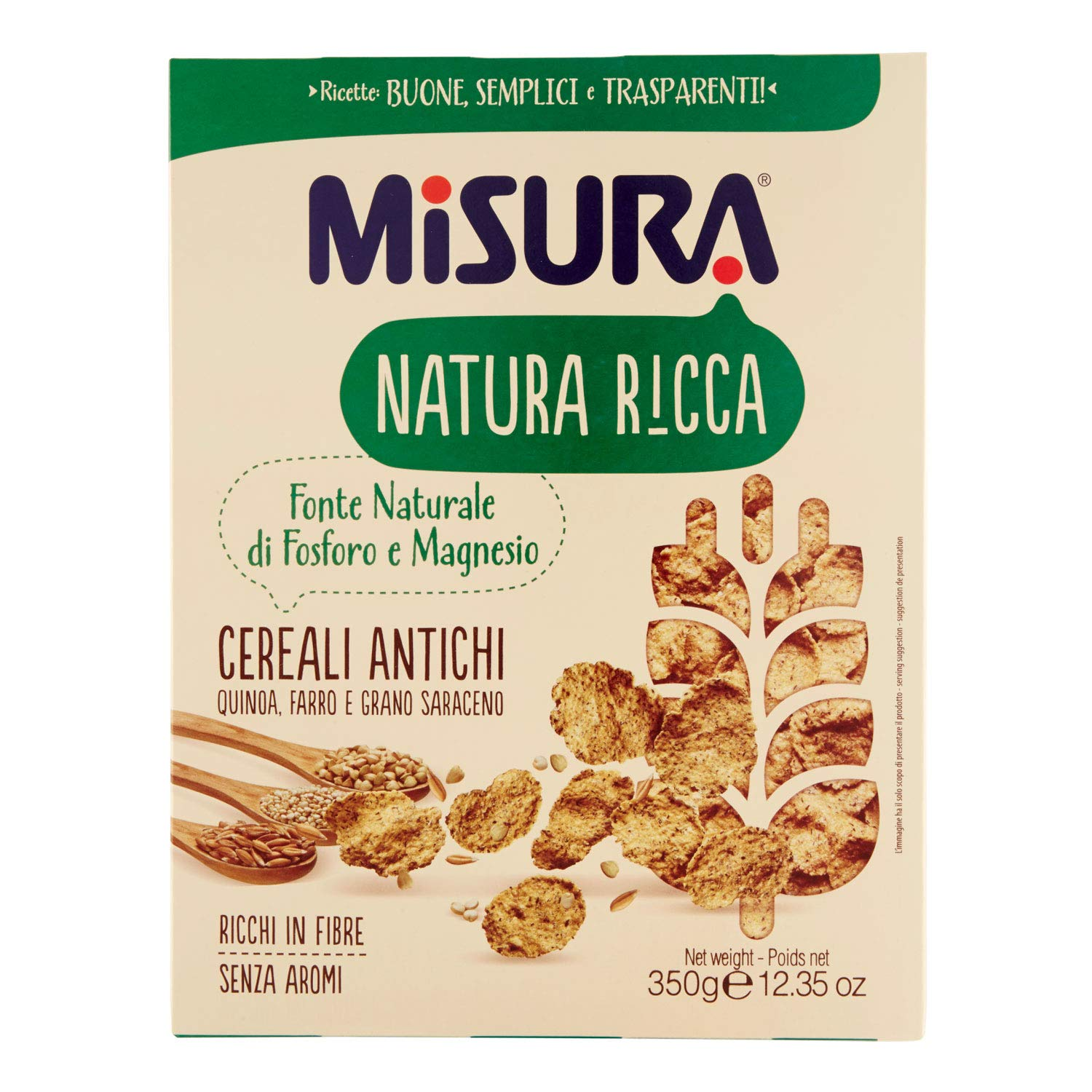MISURA Cereales Antiguo Naturaleza Rica Paquete De 350 Gramos - Made In Italy: Amazon.es: Hogar