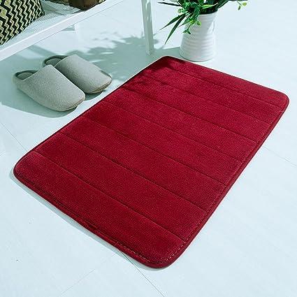 Gr/össe:50x90 cm Rojo Culater/® Alfombra Coral Fleece de Coral Alfombrillas de Antideslizantes ba/ño Cocina