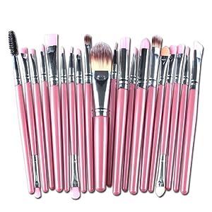 Leewa Synthetic Hair Makeup Brush Set tools Make-up Toiletry Kit Wool Make Up Brush Set (Pink)