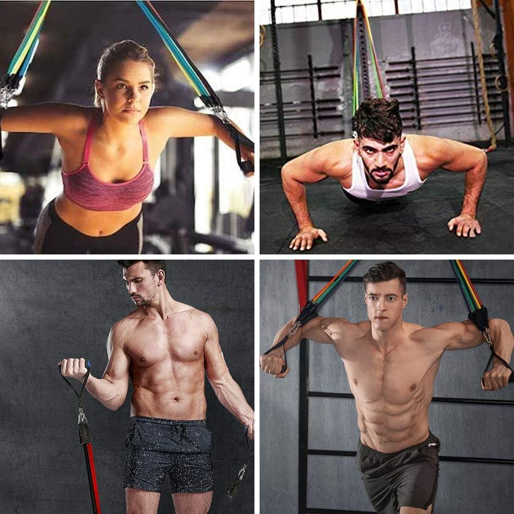 Fitness Vivibel Fitnessband Set Widerstandsband Set Mehrfarbig