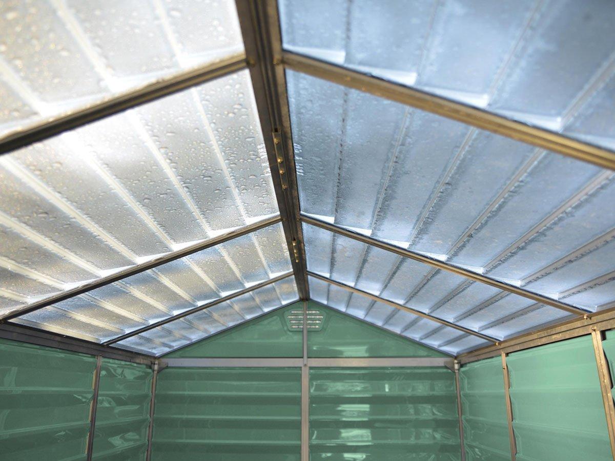 Viva Green 1174 _ 702916 abrigo de jardín con tejado translúcido policarbonato/PVC VERDE 3 m² 153 x 185 x 214 cm: Amazon.es: Jardín