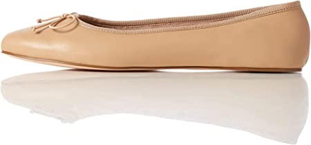 Marca Amazon - find. Leather Ballet Pump - Bailarinas Mujer