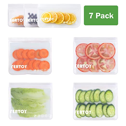 Bolsas de almacenamiento reutilizables FERTOY, paquete de 7 ...
