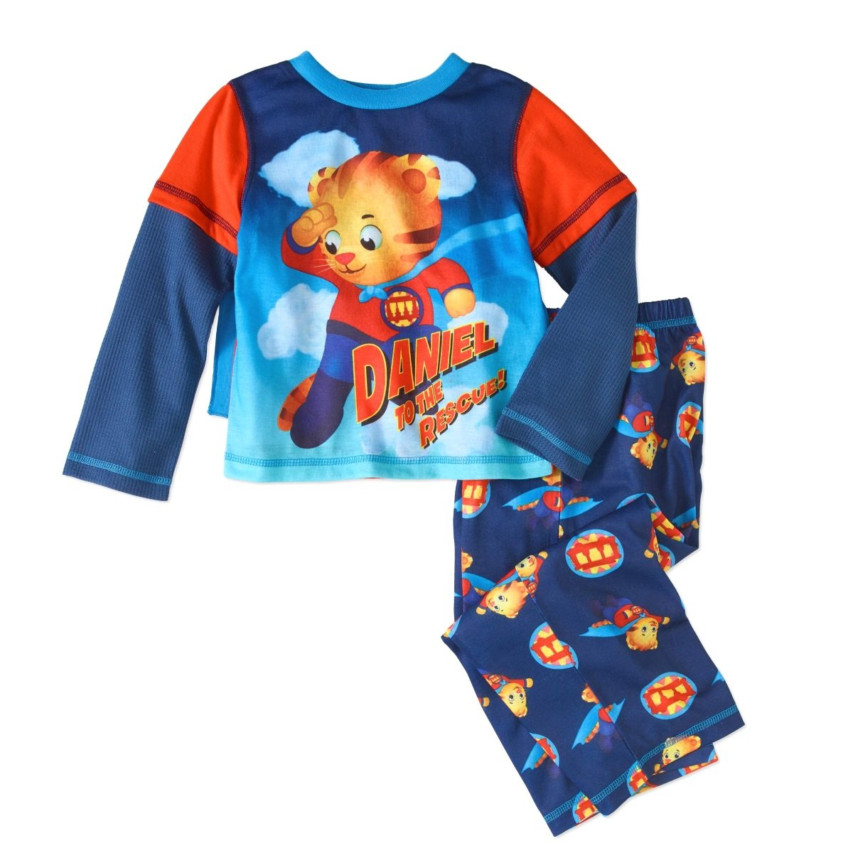 Komar Kids Daniel to The Rescue Toddler Boys Daniel Tiger Caped Pajama Set