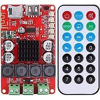Akozon Drahtloses Audioempfänger Brett/DIY Stereoverstärker Modul 50 Watt + 50 Watt DC 8-26V Tragbare Bluetooth Audio Receiver Tf-karte Decoder mit Fernbedienung