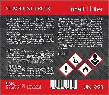 Sdv Chemie Silikonentferner 3x 1 Liter Für Autolack Lackierer Siliconentferner 3l Cleaner Auto