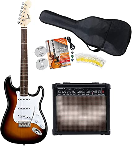 Fender Squier Bullet Strat RW BSB Starter Set (S de guitarra ...
