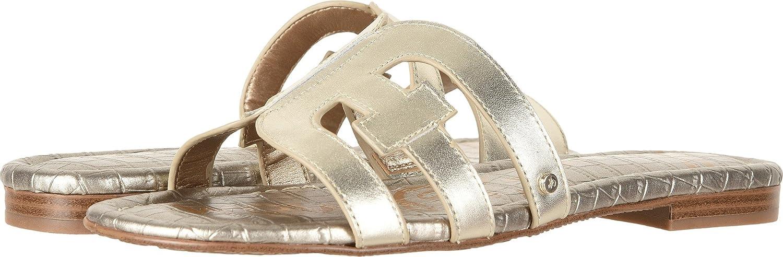 Sam Edelman Women's Bay Slide Sandal B0762SLX4H 7.5 W US Jute Polished Metallic Leather
