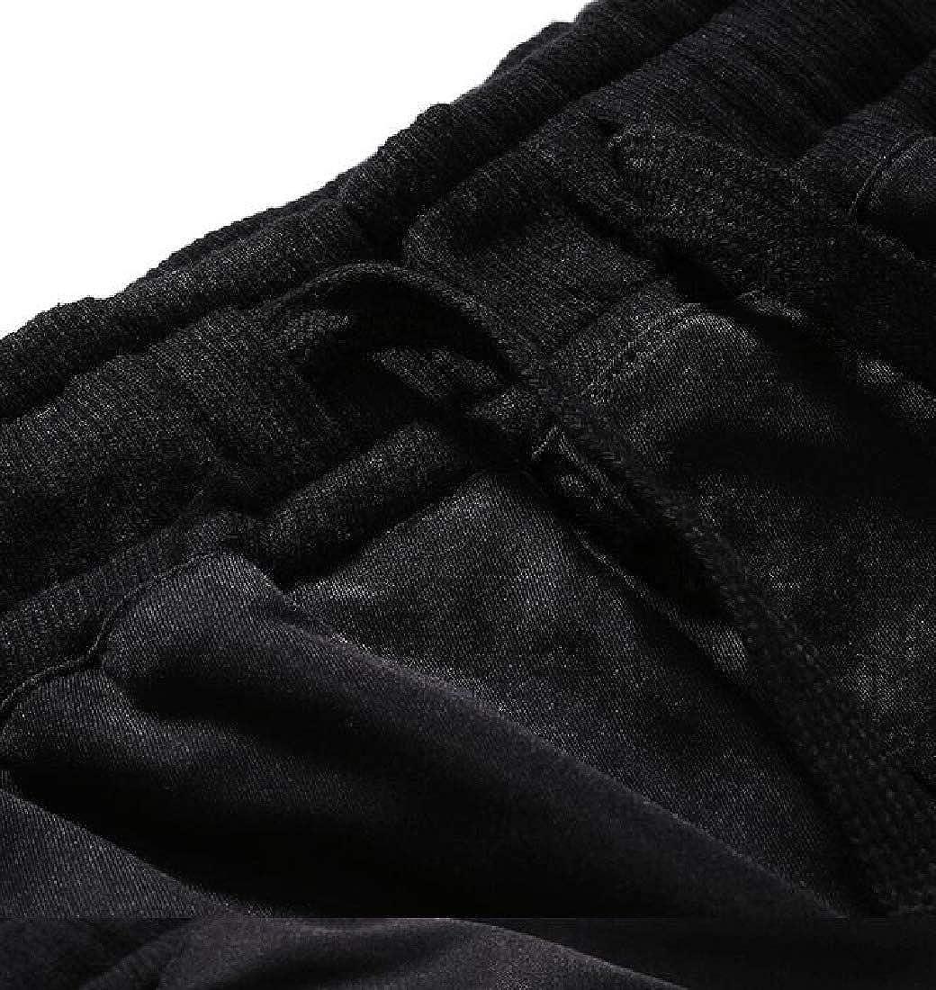 Zantt Men Multi Pockets Casual Pure Color Athletic Slim Cargo Jogger Pants
