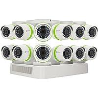 EZVIZ - Sistema de cámara de Seguridad para el hogar, 4 cámaras Impermeables, 1080p, IP PoE, 8 Canales NVR con 2 TB de Disco Duro, visión Nocturna de 100 pies