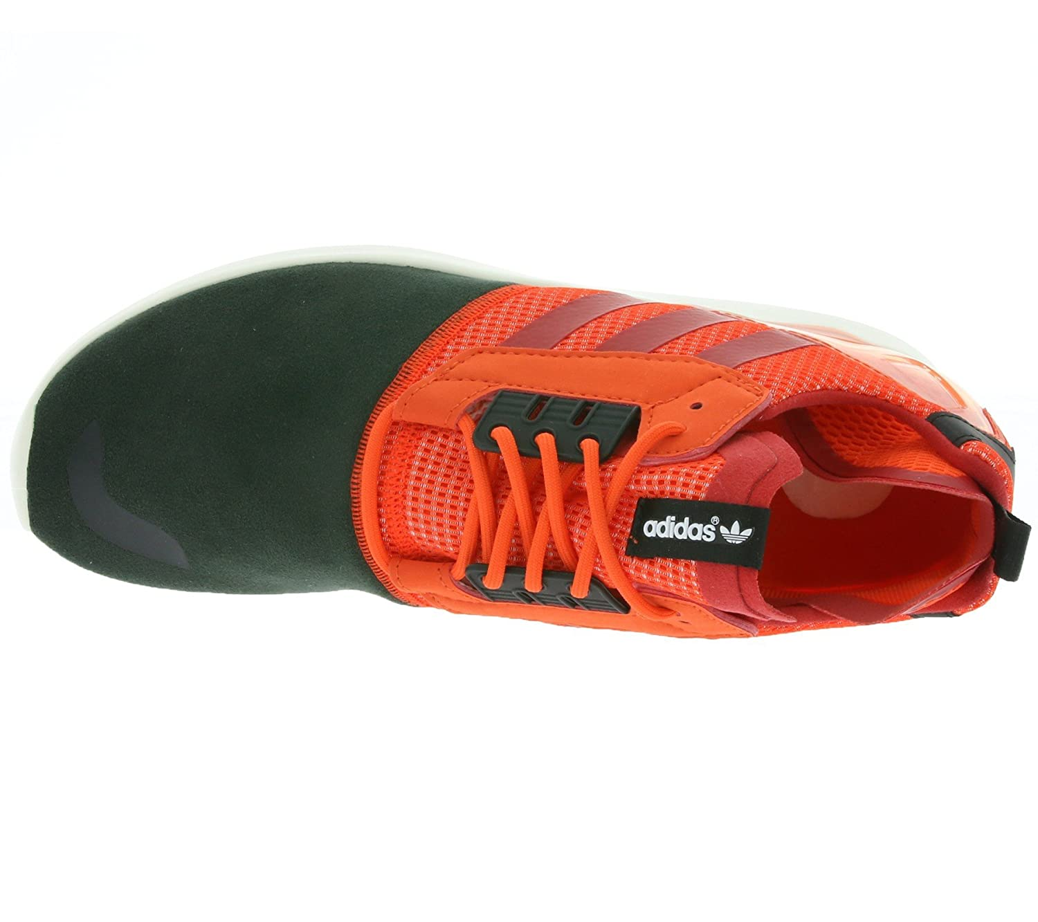 promo code 768e6 d326a Amazon.com   adidas Originals Men s Adidas  ZX 8000 Boost  Sneakers EUR 43 1  3 Red and Black   Road Running