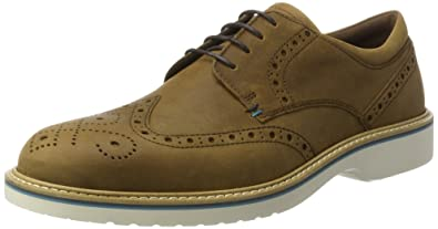 ECCO Men's Ian Wingtip Tie Oxford, Camel, 40 EU/6-6.5 M