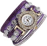 AEndiinom Women Watches Bracelet Watch Analog Quartz Wrist Rhinestone Watch