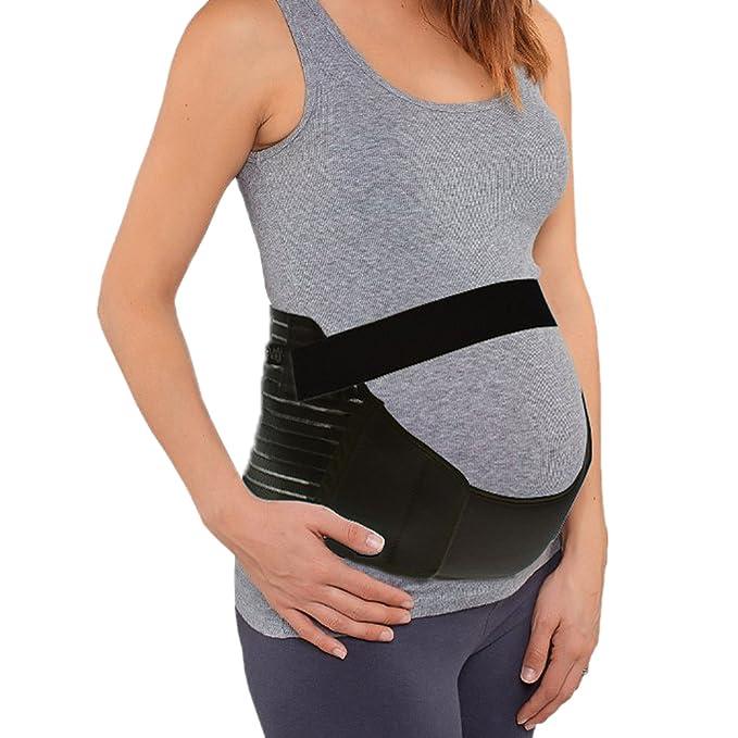dodoing mujeres embarazadas maternidad cinturón embarazo apoyo banda Abdomen barriga Negro negro