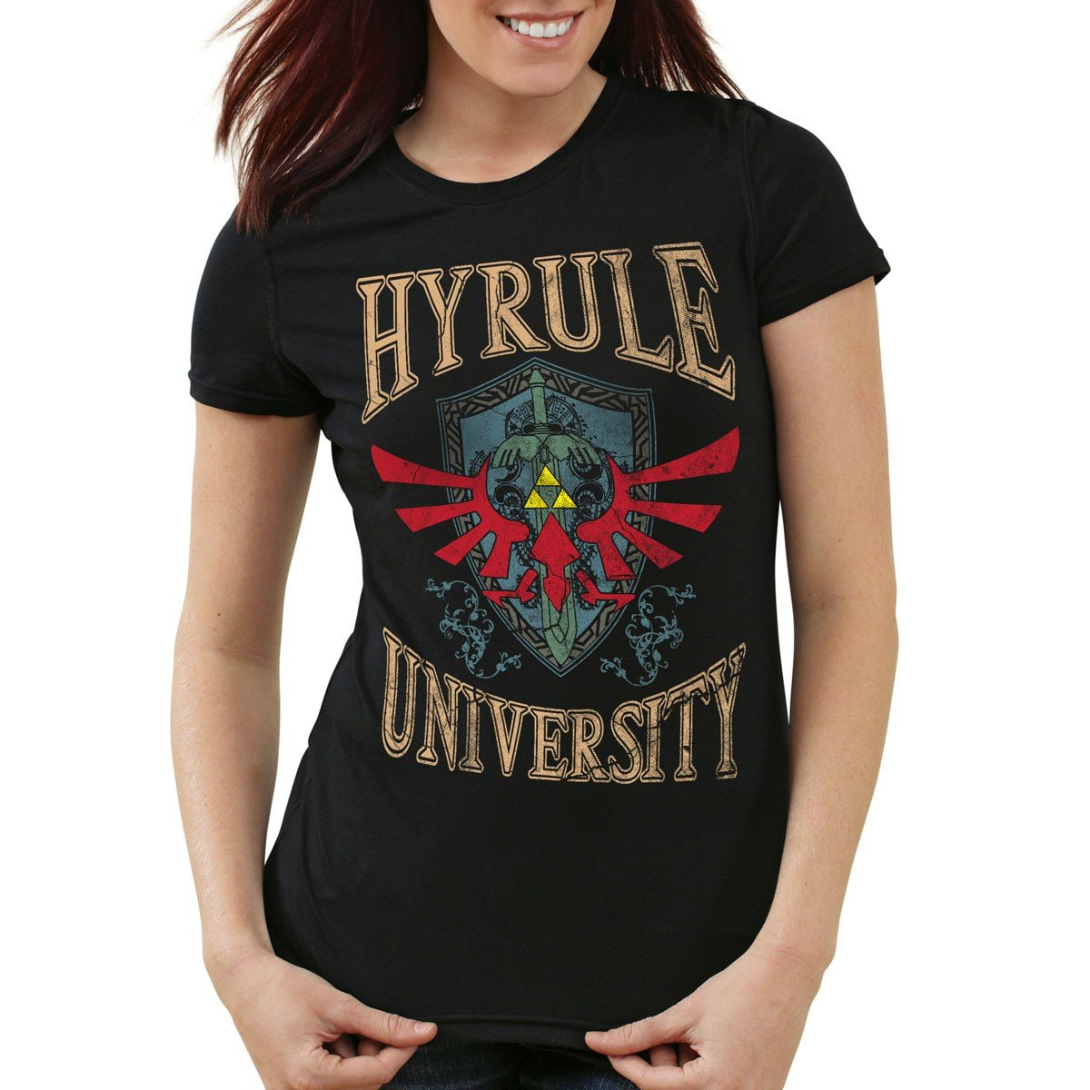 style3 University of Hyrule Camiseta para mujer T-Shirt: Amazon.es: Ropa y accesorios
