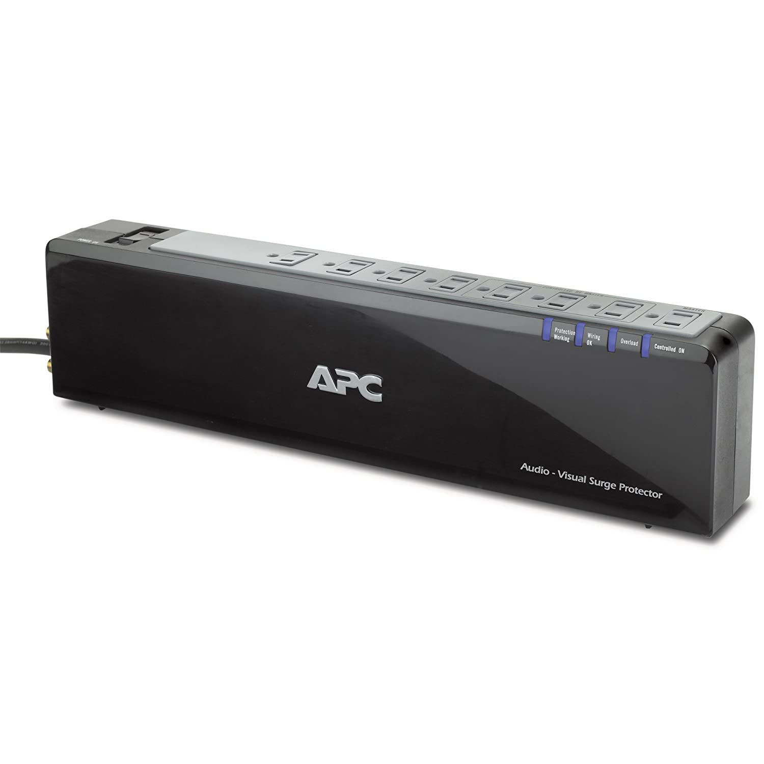 APC Premium Audio-Video Surge Protector with 8 Outlets and Coaxial Protection, 120V (P8V)