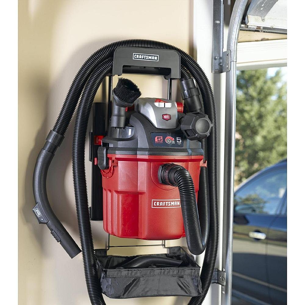 Craftsman Craftsman Remote Control Wall Mount 5 Peak HP 5 Gal. Wet/Dry  Vacuum Vac - - Amazon.com - Craftsman Craftsman Remote Control Wall Mount 5 Peak HP 5 Gal. Wet