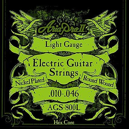 Aria 2A1410 - Juego de cuerdas para guitarra eléctrica 010-046 ...