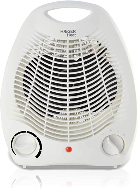 HAEGER Heat - Calefactor 2000W, Blanco, Termostato Regulable, 3 ...