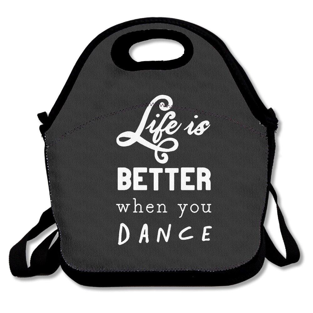 Amazon.com: La vida es mejor cuando la danza Almuerzo Bolsa ...