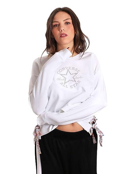 Converse 10007435 Sudadera Mujeres Blanco M: Amazon.es: Ropa y accesorios