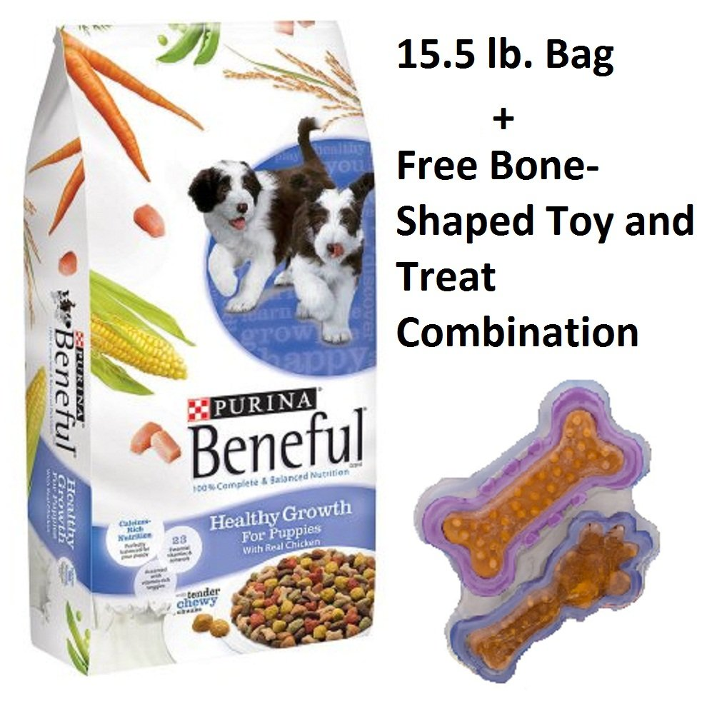 Beneful Dog Food Healthy Growth For Puppies 15.5 LB (Pack of 5 + Free Toy) by Beneful (Image #1)