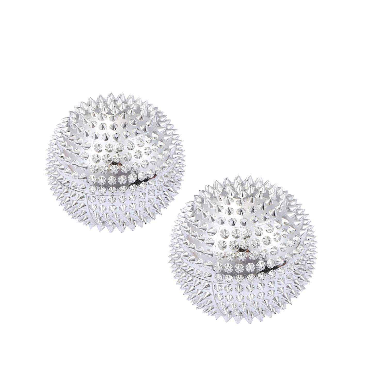 moinkerin 1 par de bolas de masaje de acupuntura magnética ...
