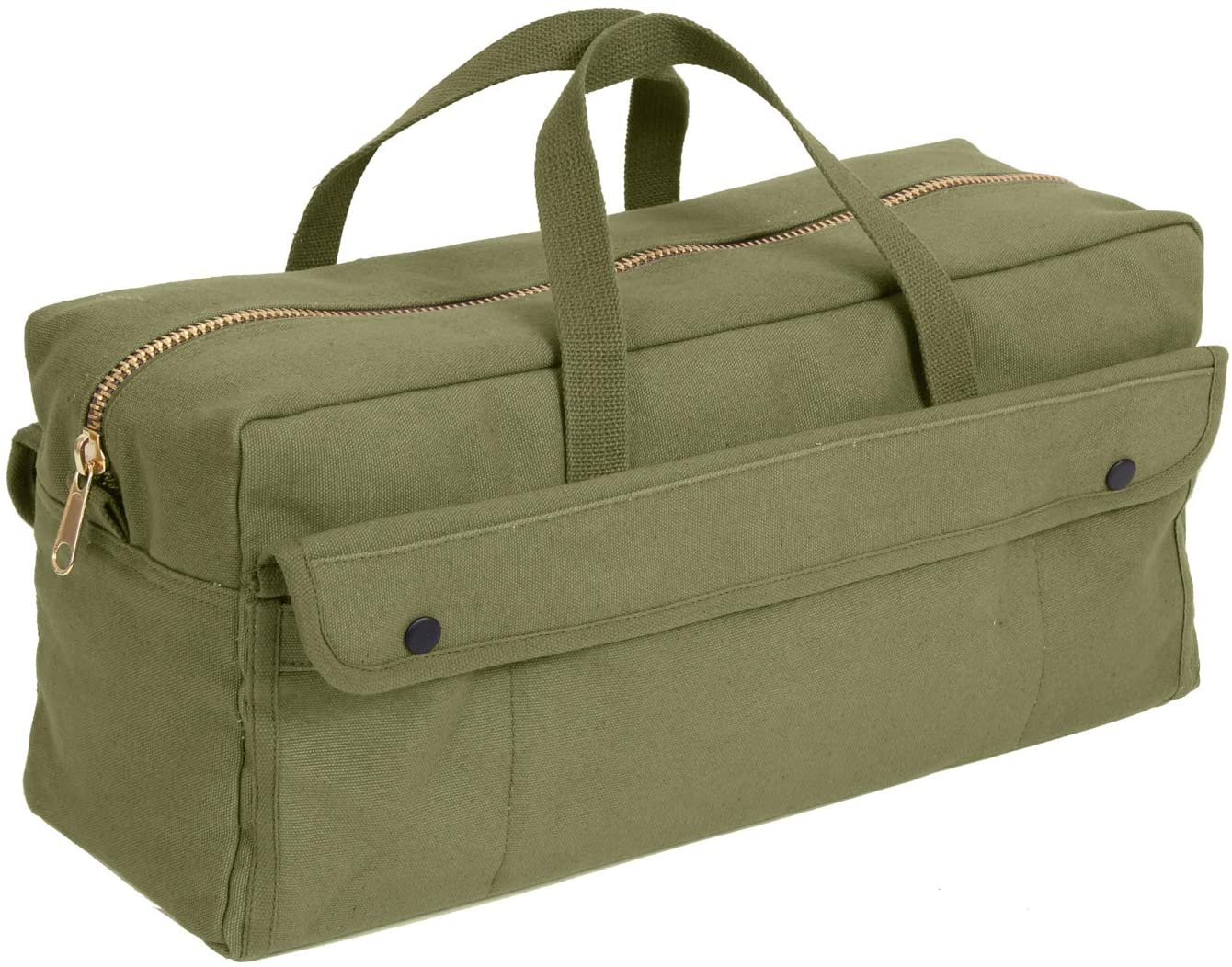 Rothco Canvas Jumbo Tool Bag With Brass Zipper, Olive Drab