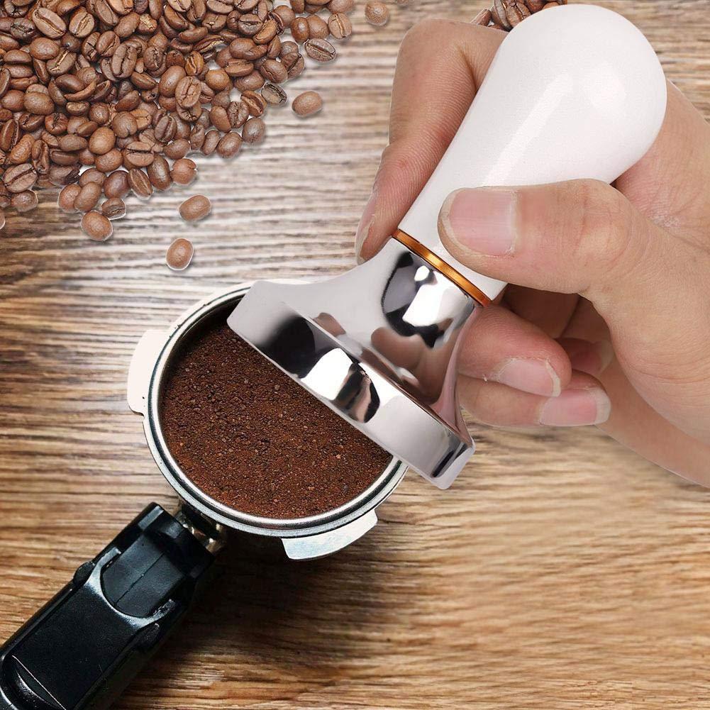 Nero Tamper per caff/è in alluminio palmare manomissioni pratiche da 57 mm con maniglia per caffettiera