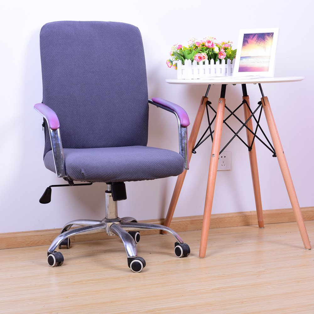 Yiwant Stretch Removable Washable Office Chair Cover Protector Seat Slipcover for Low-Back Computer Chair, Swivel Chair,Adjustable Chair,Desk Chair,etc - Small, Style #1005-01
