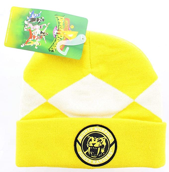 545b3b28ea0b Amazon.com: Power Rangers Mighty Morphin Beanie: Yellow Ranger: Clothing