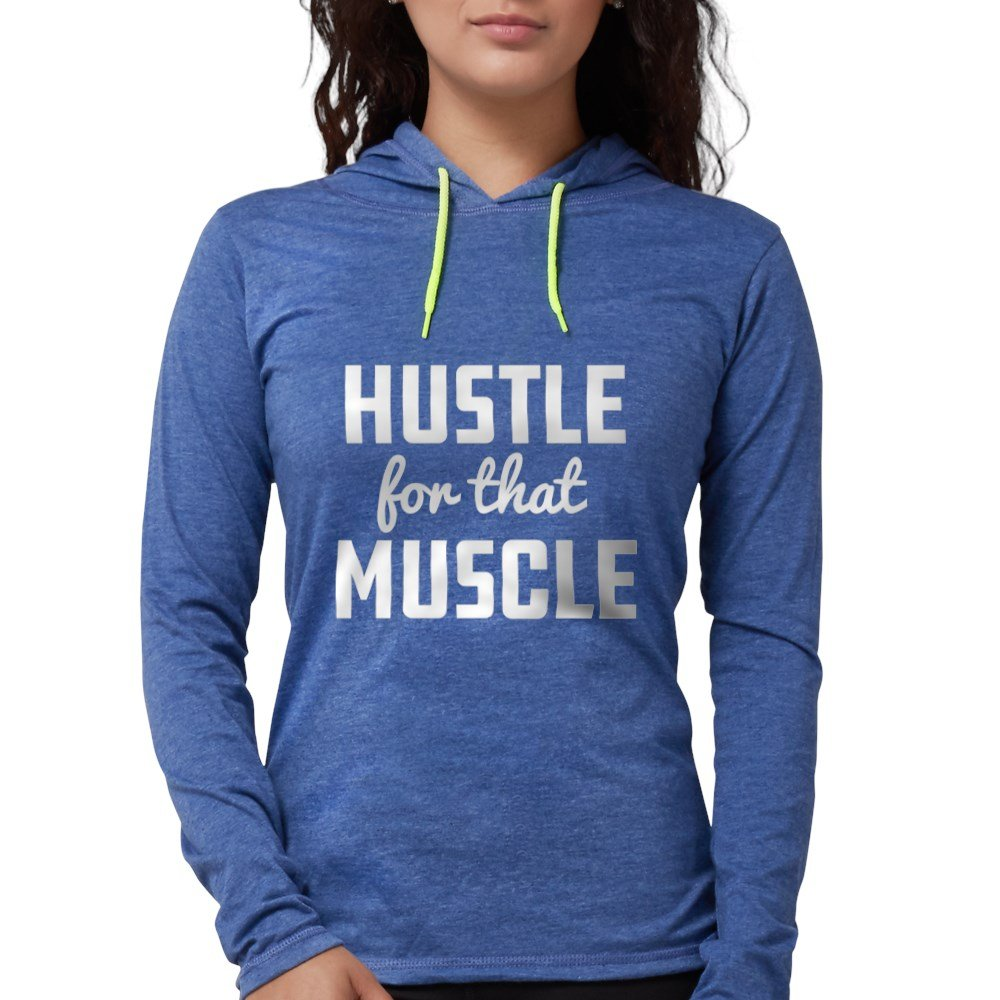 f55f75a0d Amazon.com: CafePress - Hustle for That Muscle - Womens Hooded Shirt:  Clothing
