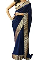 Saree (Indian Beauty Sarees below 500 rupees for women party wear latest design new collection silk Sarees offer designer saree Collection 2017 in Latest Saree With Designer Free Size Beautiful For Women Party Wear Offer With Unstitched Blouse Piece)