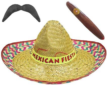 ILOVEFANCYDRESS Set di 12 Cappelli a Sombrero messicani, 12 Paia di Baffi  Finti e 12 Finti sigari Jumbo, Colore Giallo paglierino Amazon.it Casa e  cucina