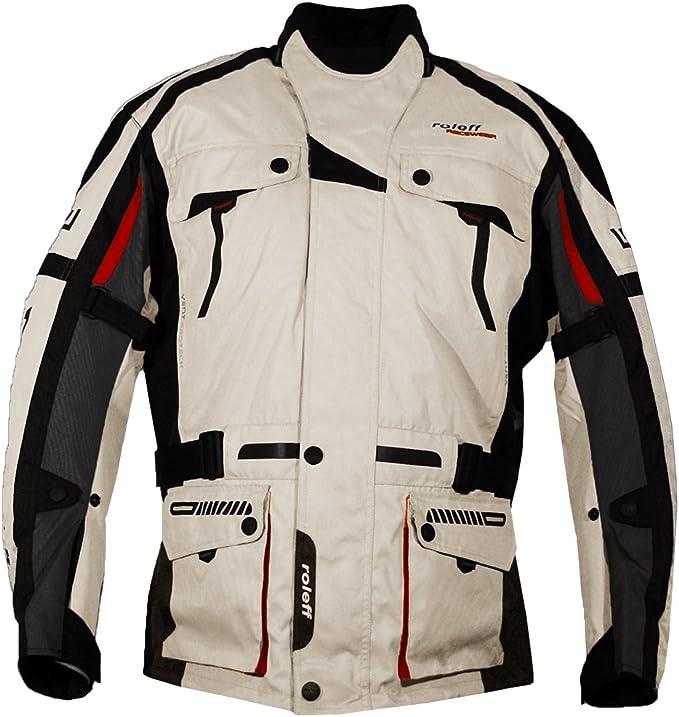 Helle Motorradjacke Mit Protektoren Belüftungssystem Klimamembrane Und Herausnehmbarem Thermofutter Von Roleff Racewear Auto