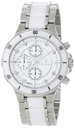 978760e92 Image Unavailable. Image not available for. Color: Bulova Women's 98P125  Substantial Ceramic and Stainless-Steel Construction Watch