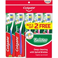 Colgate Twister Toothbrush, Medium, 5ct