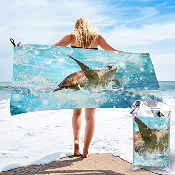 Microfiber Cool Sharks and Seaweeds Pattern Beach Swim Mens Shorts Adjustable