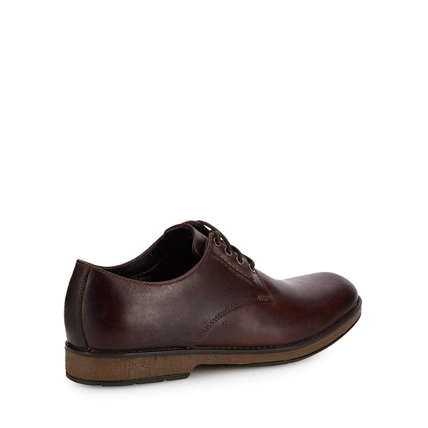 5b30554ed3b9 Clarks Men Brown Leather  Hinman  Lace Up Shoes  Amazon.co.uk  Shoes   Bags