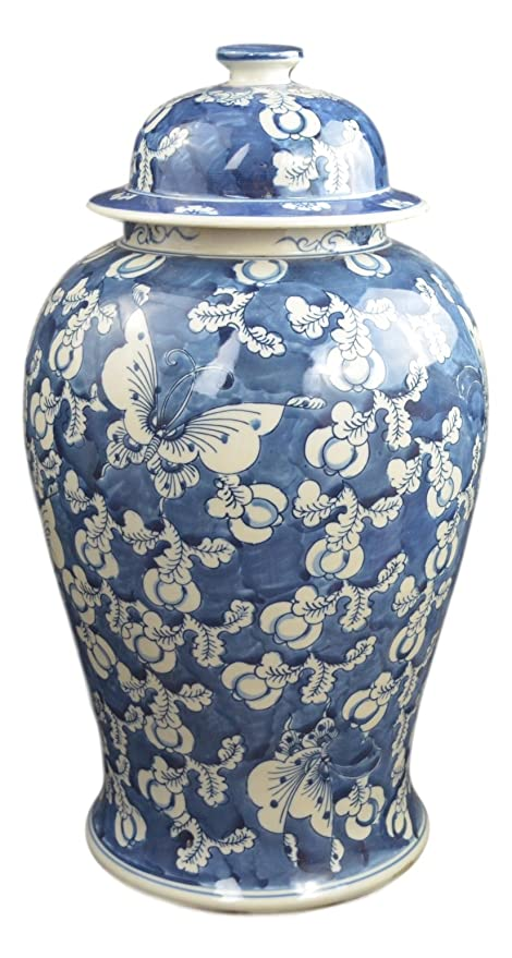 Amazoncom Festcool 19 Antique Finish Blue And White Porcelain