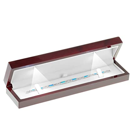 Amazon Com Geff House Cherry Wood Style Plastic Bracelet Gift Box