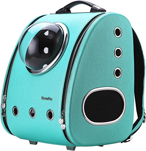 CloverPet Luxury Bubble Sporty Pet Carrier Travel Backpack for Cats Dogs Puppy