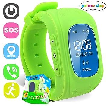 C-Xka Reloj Inteligente, Tarjeta de Reloj de posicionamiento Inteligente para Niños Puede Llamar Perseguidor GPS Anti-perdida Pulsera Inteligente Llamada ...