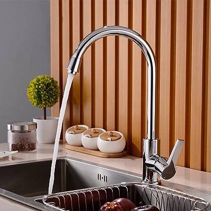 BONADE Moda 360 Giratorio Caño Grifo Cocina Monomando Grifo para Cocina Grifo de Agua Caliente y